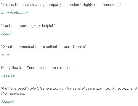 Feedback Chelsea cleaners