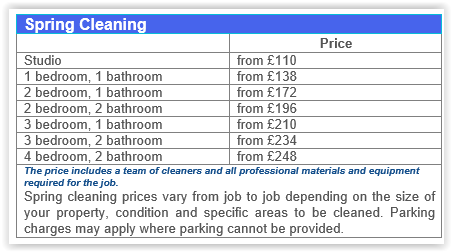 Spring Cleaning Chelsea Prices